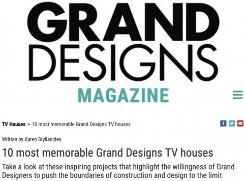 Grand Designs Magazine Underrhill 10 most memorable TV houses